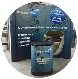 Stand parapluie 3x3 courbe full options